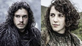 Jon Snow (L) and Meera Reed (R).  (Courtesy HBO)