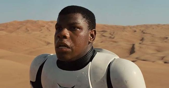 John Boyega in a scene from Star Wars: The Force Awakens. (Handout photo)