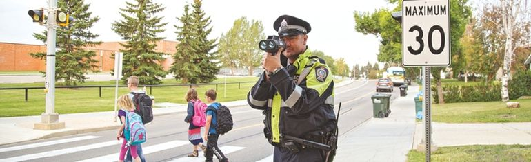 Drivers are urged to slow down in school zones as students head back to school. Photo Courtesy Strathcona County