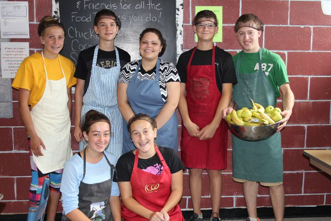 <p>Emilie Menard, Patrick Cochrane, Ashley Berardino, Alexandre Cochrane and Sheldon Veenstra (front) Camille Sauve and Bailey Fraser helping out at the Agape Centre on Thursday August 27, 2015 in Cornwall, Ont.Veenstra started Sheldon and Friends Food Drives a few years ago. Lois Ann Baker/Cornwall Standard-Freeholder/Postmedia Network