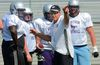 Western Mustang head coach Greg Marshall talks to players during training camp at TD Stadium. The season starts for real on Sunday in Windsor against the Lancers. (MORRIS LAMONT, The London Free Press)