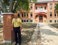 Principal Norman Zhang and staff at Victoria Academy, a private high school in the former Victoria School building on Richmond Street, are preparing to welcome students for the new school year. Most of the students are from China, for whom living and studying in Canada will be an eye-opening experience. (HEATHER IBBOTSON / The Expositor)