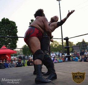 Local wrestler Cody Deaner competes in a match. (submitted photo)