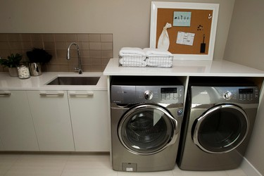 The laundry room in the $1.9 million Stollery Children's Hospital Foundation Mighty Millions Lottery grand prize show home, in Edmonton Alta. on Tuesday Sept. 1, 2015. David Bloom/Edmonton Sun/Postmedia Network