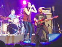 Jess Moskaluke took to the Main Stage at Lucknow's Music in the Fields at 9 p.m. on Friday, August 28, 2015. (VALERIE GILLIES/LUCKNOW SENTINEL)