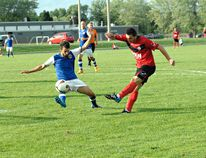 The Brantford Galaxy, shown in action earlier this season against Toronto Atomic FC, are in the hunt for a playoff spot in the Canadian Soccer League. (Expositor file photo)