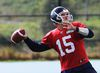 Ricky Ray throws during the Toronto Argonauts practice at their Downsview facility in Toronto, Ont. on Tuesday October 7, 2014. (Michael Peake/Toronto Sun/Postmedia Network)