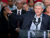 Conservative Leader Stephen Harper speaks about the Syrian refugee crisis during a campaign event in Surrey, B.C., on Thursday, Sept. 3, 2015. (The Canadian Press)