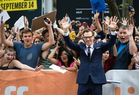 """Benedict Cumberbatch on the Red Carpet for movie """"The Imitation Game"""" at Princess of Wales in Toronto during TIFF 2014 on Tuesday September 9, 2014. Dave Abel/Postmedia Network/Files"""