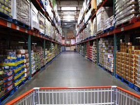 The warehouse style of shopping is shown inside a Costco store in Carlsbad, California February 28, 2012. (REUTERS/ Mike Blake)