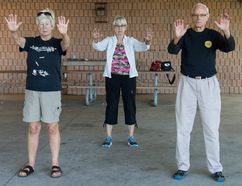 The Canadian Tai Chi Academy will host a free demonstration of tai chi at the MacKay Centre for Seniors on Thursday, September 24. Shown here are Sjani Craig, Marion Duquette and Clarence Denomme, who will serve as instructors for the event. (Photo courtesy of Sandra Billson)