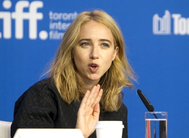 "Actress Zoe Kazan attends a news conference to promote the film ""Our Brand is Crisis"" at Toronto International Film Festival (TIFF) in Toronto, September 12, 2015.    REUTERS/Fred Thornhill"