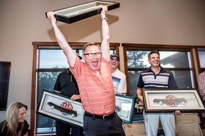 Edmonton architect Rick Arndt and his teammates may have won the 23rd Annual Boston Pizza Charity Golf Classic held last Thursday at Blackhawk Golf Course, but local charities were the biggest winner. PHOTO CREDIT: Laughing Dog Photography - Dustin Delfs / Kaylee Waterfield