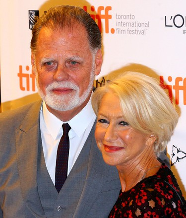 Helen Mirren with her husband Taylor Hackford on the Red Carpet for movie Trumbo during the Toronto International Film Festival in Toronto on Friday September 11, 2015. Dave Abel/Toronto Sun/Postmedia Network
