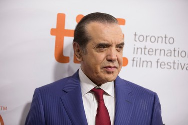 Chazz Palminteri on the red carpet for the movie Legend during the Toronto International Film Festival in Toronto, Ont.  on Saturday September 12, 2015. Ernest Doroszuk/Toronto Sun/Postmedia Network