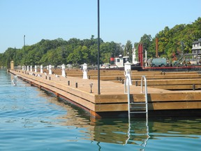The massive dock at Ivy Lea was built without township approval.