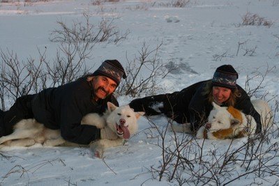 Jenafor and Gerald Azure, owners of Bluesky Expeditions, are setting up a camp at Asessipi Ski Resort that will look much like the one they operate in Churchill that offers dogsled tours.