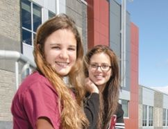 Danielle Bernardo and Erin Riley co-presidents of student council at St. Mary's College look forward to a co-operative and active school year ahead. Ali Pearson/Sault This Week