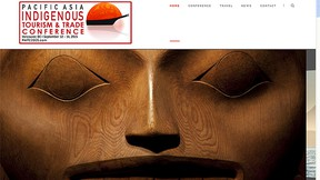 A screenshot of the Pacific Asia Indigenous Tourism and Trade Conference website.
