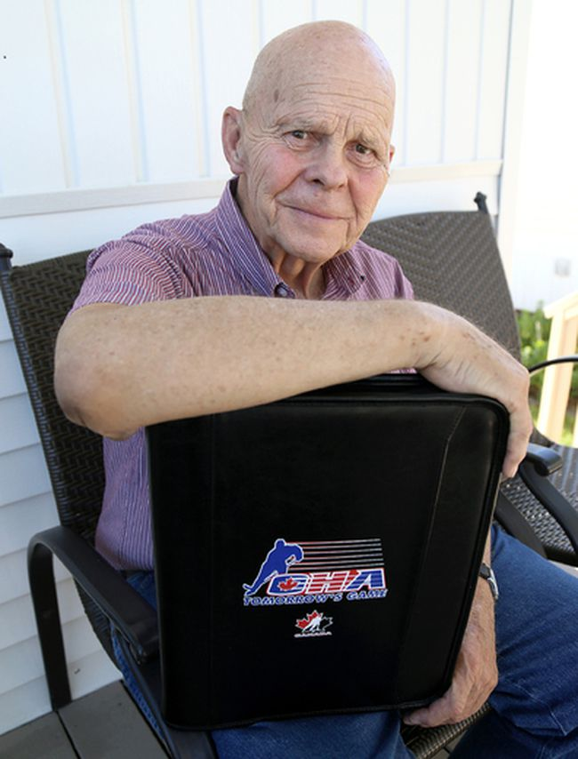 Ontario Hockey Association life member Bill Stobbs is a Chatham Sports Hall of Fame inductee. (MARK MALONE/The Daily News)