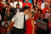 Federal Liberal leader Justin Trudeau and Premier Kathleen Wynne at a August 2015 Liberal rally. (JACK BOLAND/Toronto Sun)