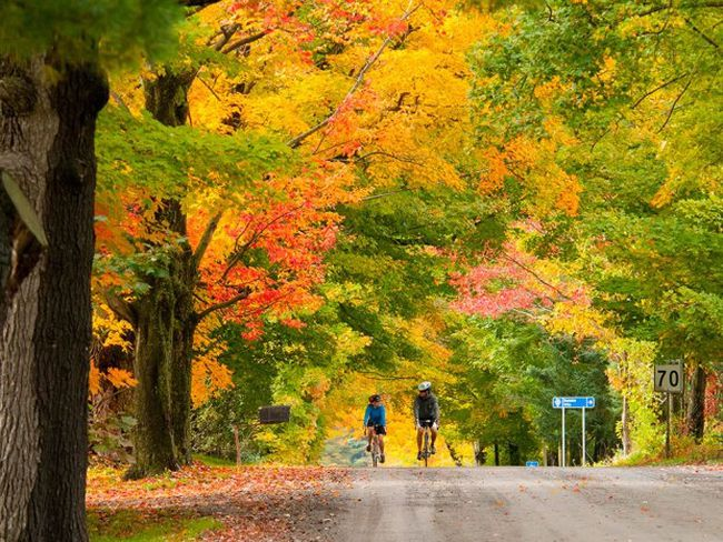 Fall colours are spectacular in and around Montreal. Try the Laurentians for great cycling and walking trails. PHOTO COURTESY TOURISM QUEBEC