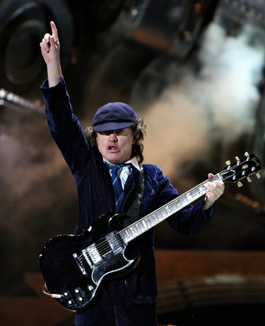Edmonton, Alta., Aug 26,  2009 - Lead guitarist Angus Young performs during the ACDC concert at Commonwealth Stadium on Wednesday.  (Edmonton Sun file)