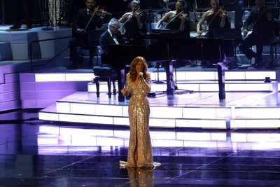 Celine Dion is the original diva of the Las Vegas Strip and her best-selling show has made a return to the Colosseum at Caesars Palace. 'Celine' features a full orchestra, designer wardrobe for the Canadian singer and all of Celine's biggest hit songs. (DJDM/WENN.com)