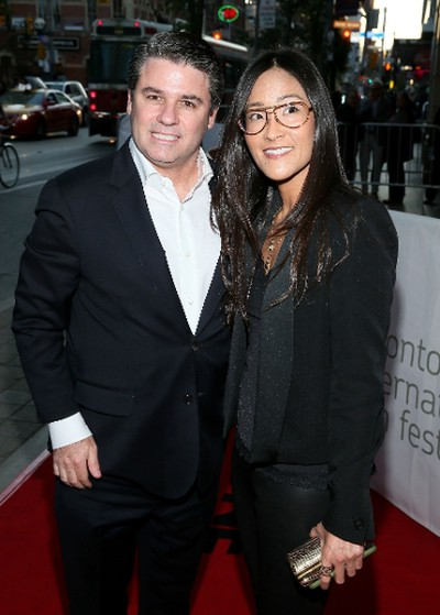 "TORONTO, ON - SEPTEMBER 17: Executive Producers Adam Del Deo (L) and Lisa Nishimura attend the ""Keith Richards: Under The Influence"" premiere during the 2015 Toronto International Film Festival at Princess of Wales Theatre on September 17, 2015 in Toronto, Canada.   Jemal Countess/Getty Images/AFP"