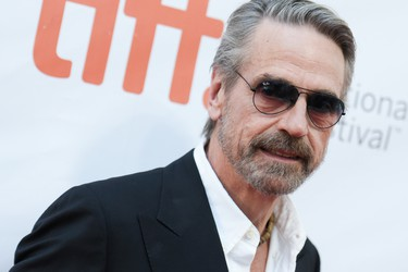 "Actor Jeremy Irons attends the premiere of ""The Man Who Knew Infinity"" on day 8 of the Toronto International Film Festival at the Roy Thomson Hall on Thursday, Sept. 17, 2015, in Toronto. (Photo by Richard Shotwell/Invision/AP)"