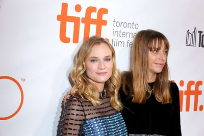 "TORONTO, ON - SEPTEMBER 17: Actress Diane Kruger (L) and Writer/Director Alice Winocour attend the ""Disorder"" premiere during the 2015 Toronto International Film Festival at Roy Thomson Hall on September 17, 2015 in Toronto, Canada.   Jemal Countess/Getty Images/AFP"