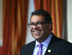 Calgary Mayor Naheed Nenshi, shown here on July 29 in Calgary, is the keynote speaker at Saturday's LaFontaine-Baldwin Symposium at the Avon Theatre in Stratford.