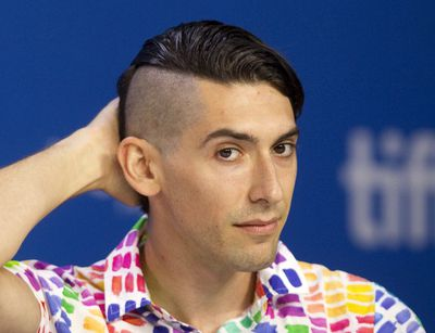 Writer Max Landis attends a press conference to promote the film