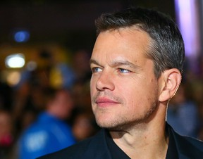 Matt Damon on the red carpet for movie The Martian during the Toronto International Film Festival in Toronto on Friday September 11, 2015. (Dave Abel/Postmedia Network)