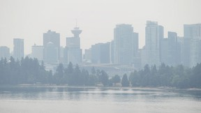 """The coast at Burrard Inlet in Vancouver, B.C., on Monday July 6, 2015. A University of Victoria professor says Vancouver should be preparing for a """"monster"""" El Nino weather system in the coming months. THE CANADIAN PRESS/Darryl Dyck"""