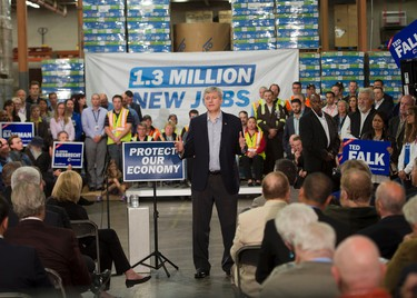 Conservative leader Stephen Harper speaks to supporters while campaigning Tuesday, September 22, 2015  in Winnipeg.THE CANADIAN PRESS/Ryan Remiorz