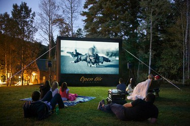 Bulldog Outdoor Movies brings the atmosphere of the drive-in to their client's backyard.