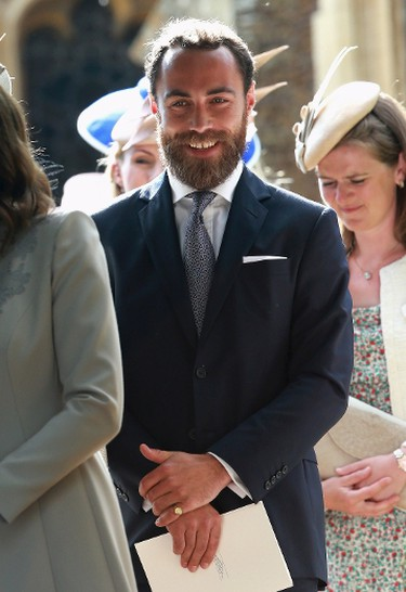 James Middleton, the brother of Catherine, Duchess of Cambridge, leaves the Church of St Mary Magdalene on the Sandringham Estate for the Christening of Princess Charlotte of Cambridge on July 5, 2015 in King's Lynn, England. (REUTERS/Chris Jackson/Pool)