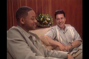 Bill Welychka and TV, film and music icon Will Smith in 1999.