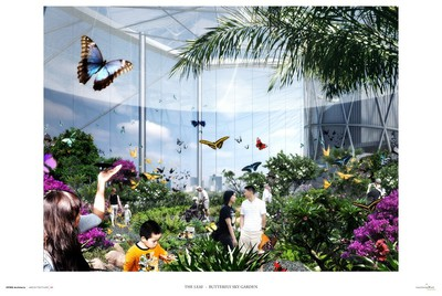 A butterfly house is part of Assiniboine Park Conservancy's $70-million plan for further upgrades at the Winnipeg park. Plans for the next phase of upgrades were revealed on Sept. 25, 2015. (ASSINIBOINE PARK CONSERVANCY IMAGE)