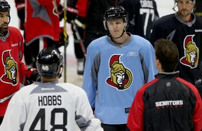 Colin Greening was one of the Senators on the ice during practice Monday, Sept. 28, 2015, at the Canadian Tire Centre.  Tony Caldwell/Ottawa Sun/Postmedia Network