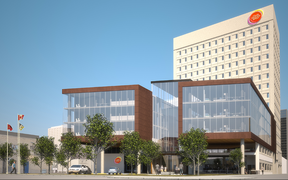 Renderings of the redesigned Medical Arts Building at 233 Kennedy St. On Monday, Manitoba Liquor and Lotteries said the project was being cancelled. (MANITOBA LIQUOR AND LOTTERIES IMAGE)