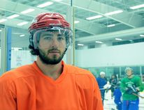 At 21, former St. Catharines Falcons forward Cam Blakely is considered one of the old-timers on the Greater Metro Junior A Hockey League's Niagara Whalers. BERND FRANKE/Welland Tribune