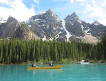 Moraine Lake is a key stop for anyone driving through Alberta's Rocky Mountains. (Jim Byers)