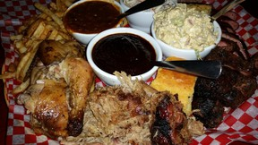 he Memphis Blues' Memphis Feast offers a whacking great pile of meat.