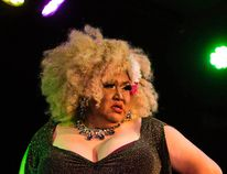 Morley queen Argintina Hailey performs at Banff PRIDE in Banff, Alta., on Saturday, Oct. 3, 2015. (Daniel Katz/ Crag & Canyon/ Postmedia Network)