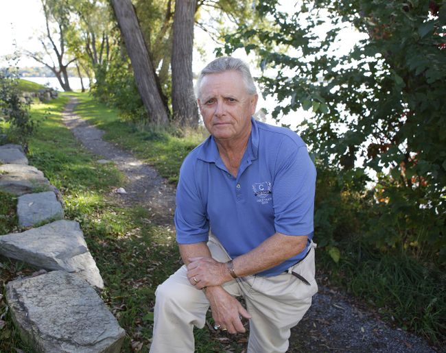 Author Rick Revelle, photographed in Kingston on Thursday, is releasing his second book this weekend. (Elliot Ferguson/The Whig-Standard)