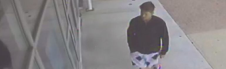 Vulcan RCMP are asking for the public's help in identifying this man in relation to a break-in Oct. 1 at Market Street's pharmacy. Submitted photo