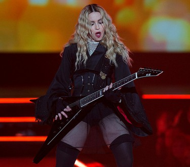 Madonna performs at Rexall Place during her Rebel Heart Tour, in Edmonton Alta. on Sunday Oct. 11, 2015. David Bloom/Edmonton Sun/Postmedia Network