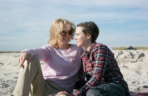 Julianne Moore and Ellen Page in a scene from Freeheld (Handout)